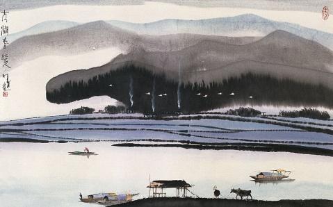 画尽水乡四季风(杨明义水墨画) - 乐园 - 高山流水