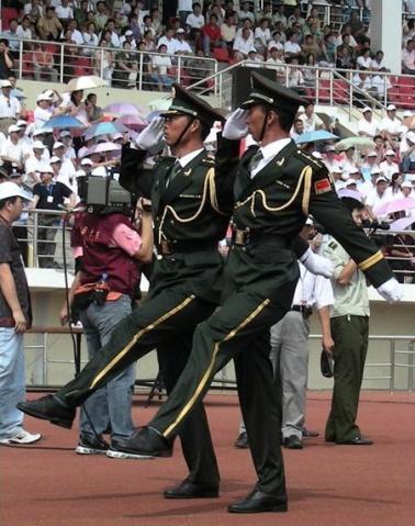 陆军风采----阅兵式上的旗手 - 披着军装的野狼 - 披着军装的野狼