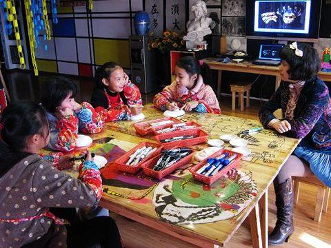 童画童心08秋季高级班美术活动10——手绘威尼斯面具 - 童画-童心儿童美术 - 童画-童心儿童美术