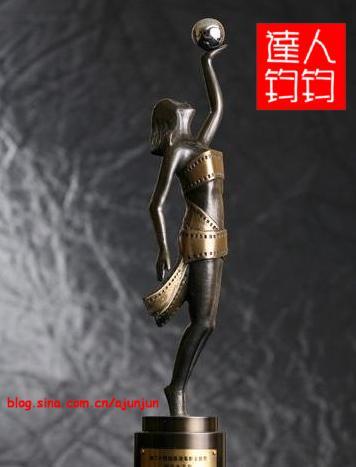 香港电影金像奖最佳女主角奖杯展示