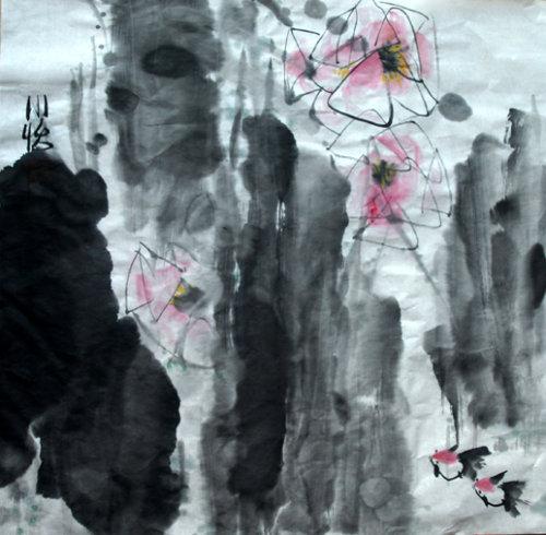 王小怡作品(写意花鸟) - 水晶盒子 - 水晶盒子