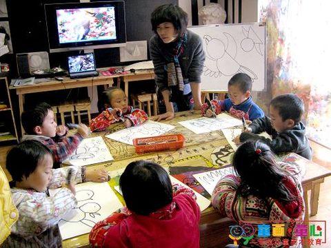 童画童心08秋季小小A班美术活动——小鸟 - 童画-童心儿童美术 - 童画-童心儿童美术