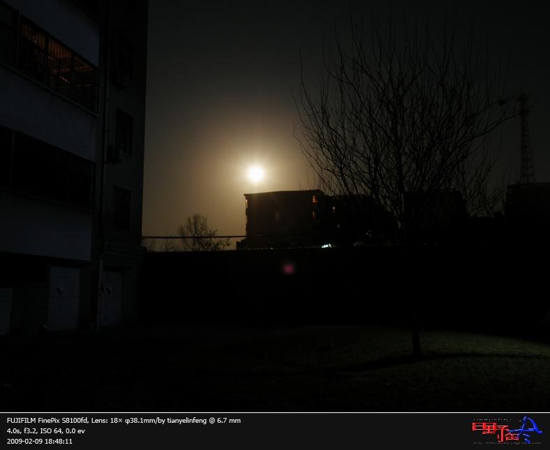初一月亮的图片