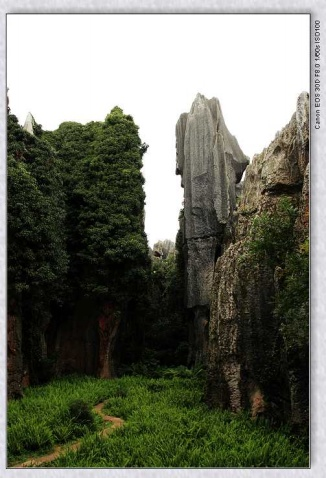 阿诗玛与路南石林图片