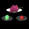 一组诱人的果实素材透明flash效果