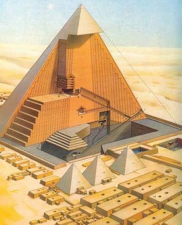 金字塔内部结构图