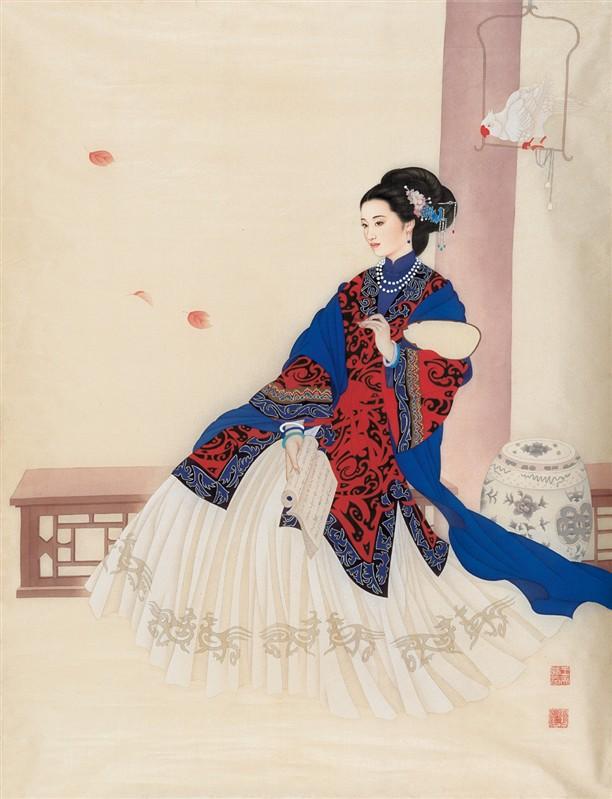 赵国经、王美芳先生工笔人物画《上》 - 髯书之歌 - 髯書之歌 de 書畫天地
