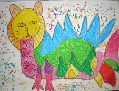 孩子眼中的四不像  系列一 - 彤馨童画 - 彤馨·童画的博客