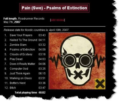 『Psalms Of Extinction 』-PAIN - 不  休 - 飞啦不休