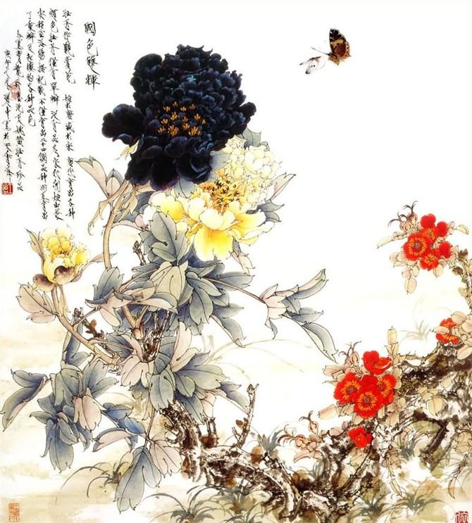 61王道中先生的工笔牡丹 - 傲雪 - 傲雪 的博客
