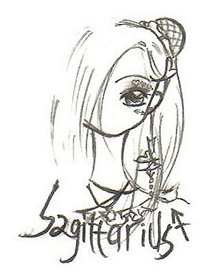 铅笔手绘的星座女孩