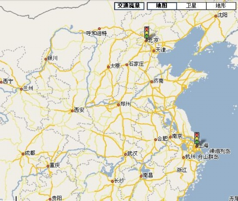 交通流量图可以叠在地图