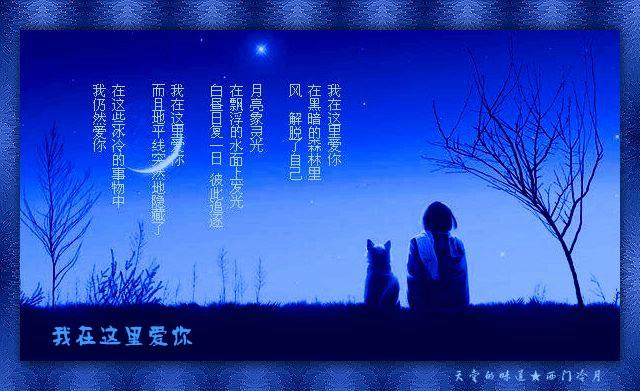 【卧海听涛】我在这里爱你 - 西门冷月 -                  .