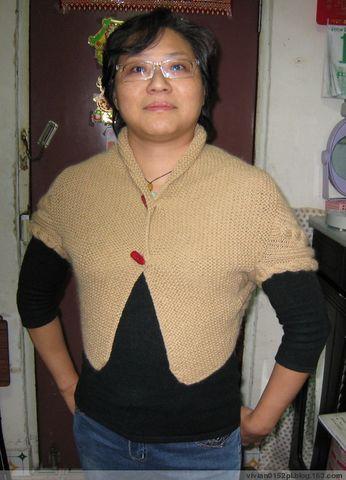 08 簡易披肩 -- 08.11.10上真人show - 酷愛編織的猫 - 猫公館