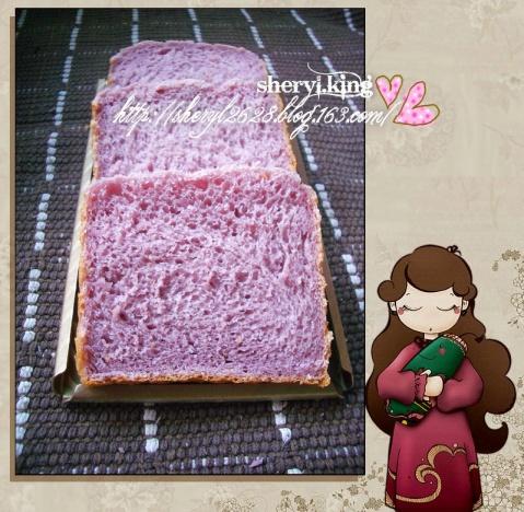 枫糖紫薯土司 - 出尘素影 - 淡极始知花更艳