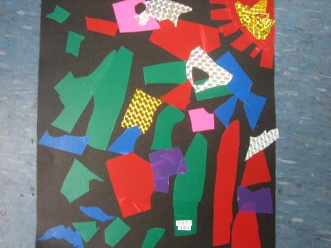 彩纸贴画 - 机关幼儿园大三班的日志