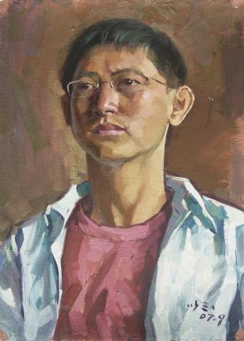 张以玉老师的油画头像写生 - 江振柏 - 水木白艺术空间