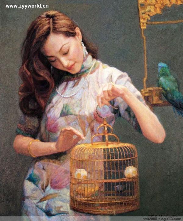 著名画家陈逸飞作品【三】 - 和风细雨--ln - 和风细雨温馨的小屋