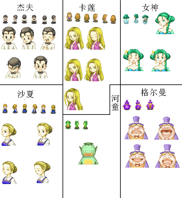 [贴图]RPG人物图片素材-GBA牧场物语-矿石镇的伙伴 - 阿米 - 米多多牧场