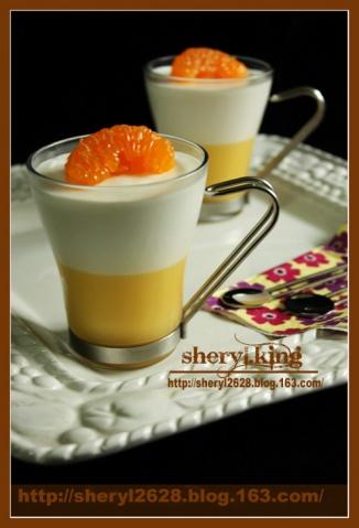 柠檬乳酱甜橙幕斯杯 - 出尘素影 - 淡极始知花更艳