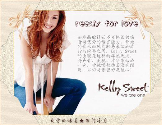 【异域经典】水晶般的声音ready for love_kelly sweet - 西门冷月 -                  .