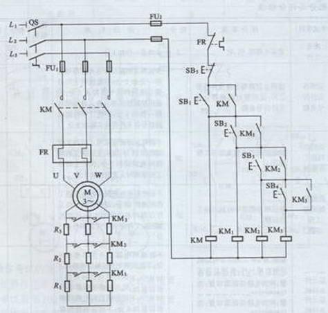 至此电阻全部切除,电机完成降压启动