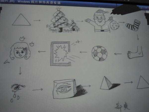 美术三角形画法步骤