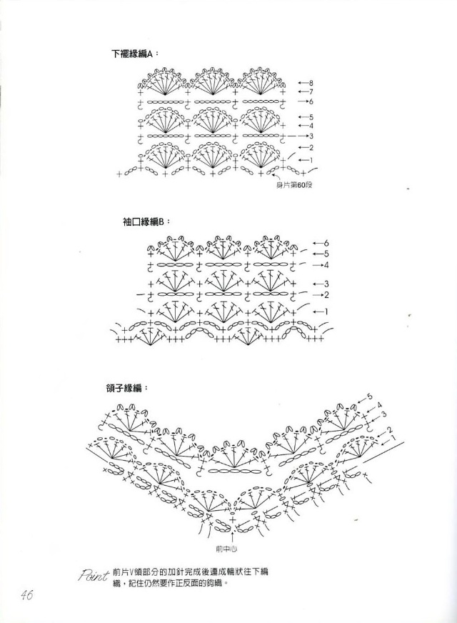 小织的作品——小花V领衣 - 风前横笛手工网 - 风前横笛手工网博客