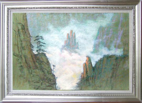 吴锡安色粉笔画 —— 生命的活水系列之二 - 粉画家吴锡安(亚亚) - 粉画家吴锡安(亚亚)