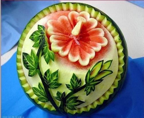 绝美的西瓜雕刻 - 香儿 - xianger