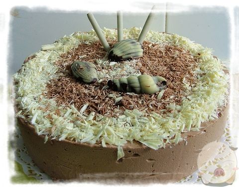 巧克力慕司蛋糕 - 快乐的猪 - 一个小女人的幸福生活
