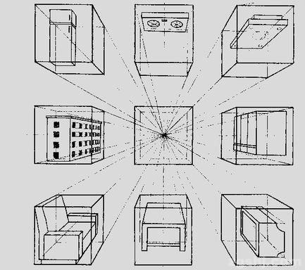 以下是圆柱体和圆锥体的画法: