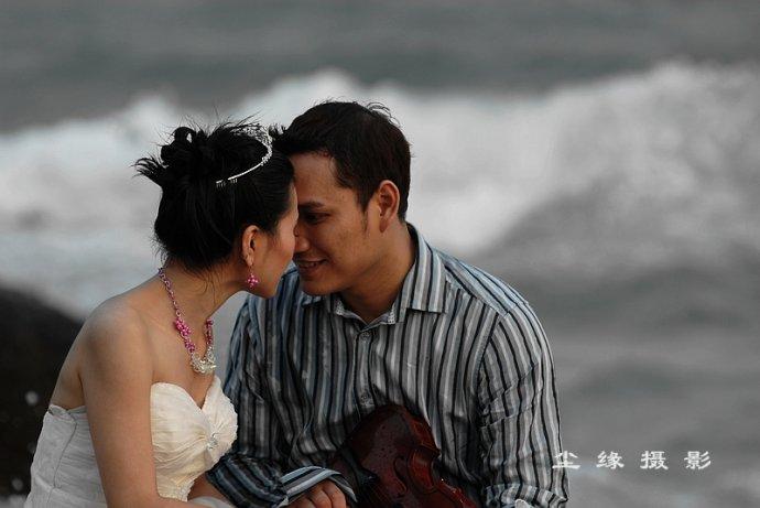 我在美奈和新婚夫妇一起拍婚纱照 - Y哥。尘缘 - 心的漂泊