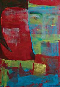 蓝脸----我的纸面油画 - 会笑的蜻蜓 - 会笑的蜻蜓