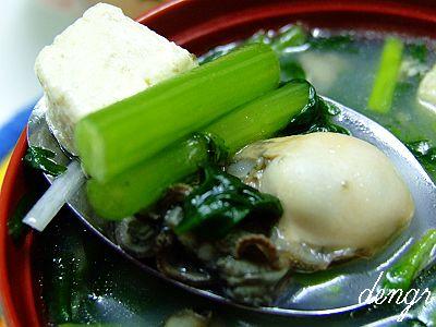 7款堪称王牌的搭配---海蛎子茼蒿炖豆腐 - 可可西里 - 可可西里