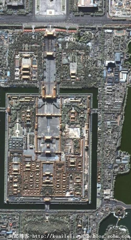 卫星地图-北京故宫(组图)