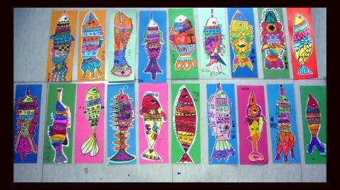 卡纸手工鱼的制作图片