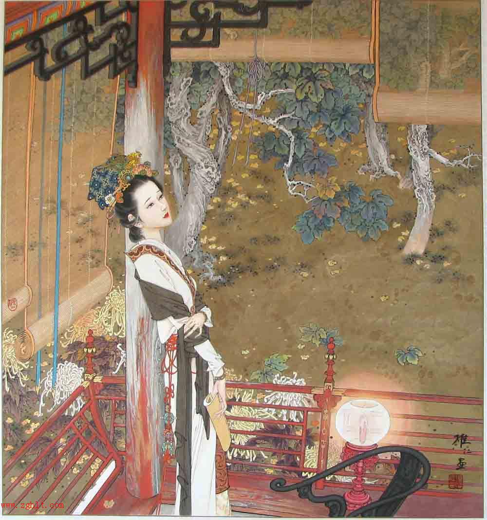 项维仁*工笔仕女画 - 香儿 - xianger