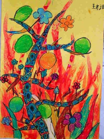 梦境里的树 - 七彩城堡少儿美术工作室 - 七彩城堡
