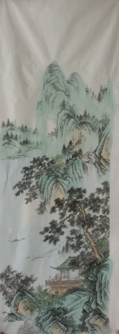 【转载】宣纸印工笔山水画 - 大漠孤烟 - 大漠孤烟佛教绘画艺术博客