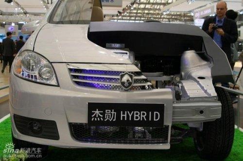 长安混合动力杰勋是自主研发的一款中度油电混合动力多功能汽高清图片