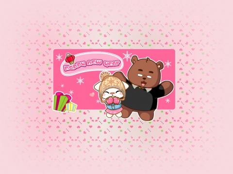 熊不在家,我有画了新桌面一张 - 麦咪和熊熊 - 麦咪和熊熊.Yalloe