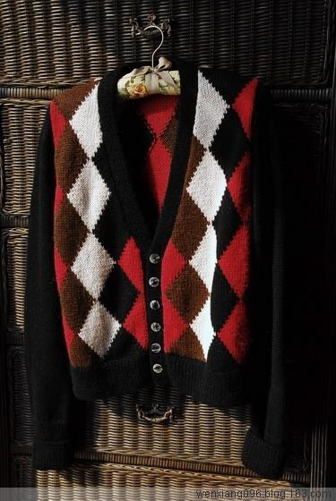 经典的时尚-----我的苏格兰格子毛衣 (完工) - wenxiang096 - 闻香的博客