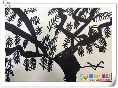童画童心08秋季启蒙B-2美术活动10——发现树之美 - 童画-童心儿童美术 - 童画-童心儿童美术