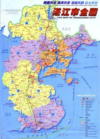 湛江市地图高清图片
