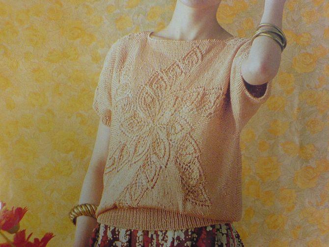 旋转枫叶毛衣的织法步骤图 shy;zT - yizhr23 - 七七