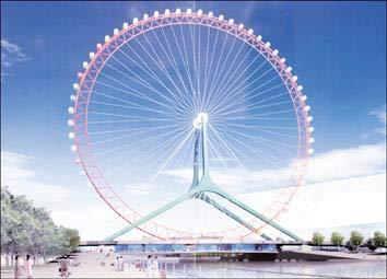 天津慈海桥设计方案确定 建全球最大摩天轮
