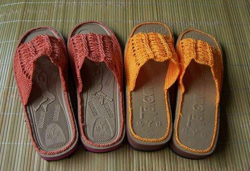 漂亮拖鞋是这样钩成的 - 遇缘 DIY - 【胖美人】大码女装