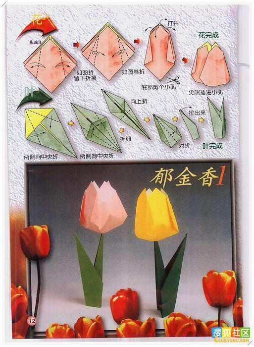最全的各种花花的折纸方法 - jnehmkxmch - jnehmkxmch的博客
