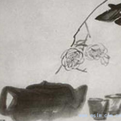 潘公凯国画荷花作品欣赏